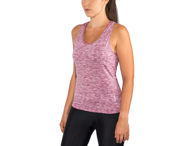 Löffler Rainbow Bib Top Women berry/rainbow